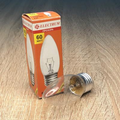Лампа ELECTRUM свеча 60W E27 прозрачная A-IC-0019