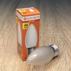 Лампа ELECTRUM свеча 40W E27 матовая A-IC-0385