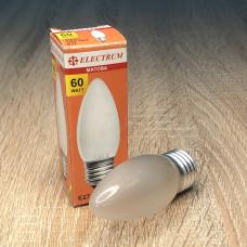 Лампа ELECTRUM свеча 60W E27 матовая A-IC-0386
