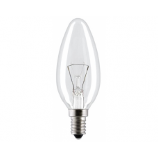 Лампа накаливания Свеча 40W E14 прозрачная в гофре