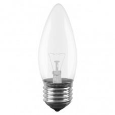 Лампа накаливания Свеча 40W E27 прозрачная в гофре