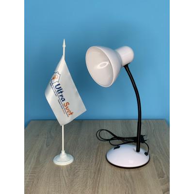 """Настольная лампа 096 белая с выключателем """"LEMANSO"""" LMN096"""