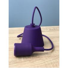 """Подвес пластиковый """"T-образный"""" + E27 фиолетовый 1м для LED ламп  """"LEMANSO"""" LMA074"""
