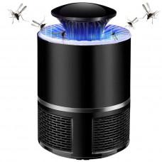 "Светильник от комаров 5W 110-240V USB+адаптер PP черный ""LEMANSO"" LM3401"